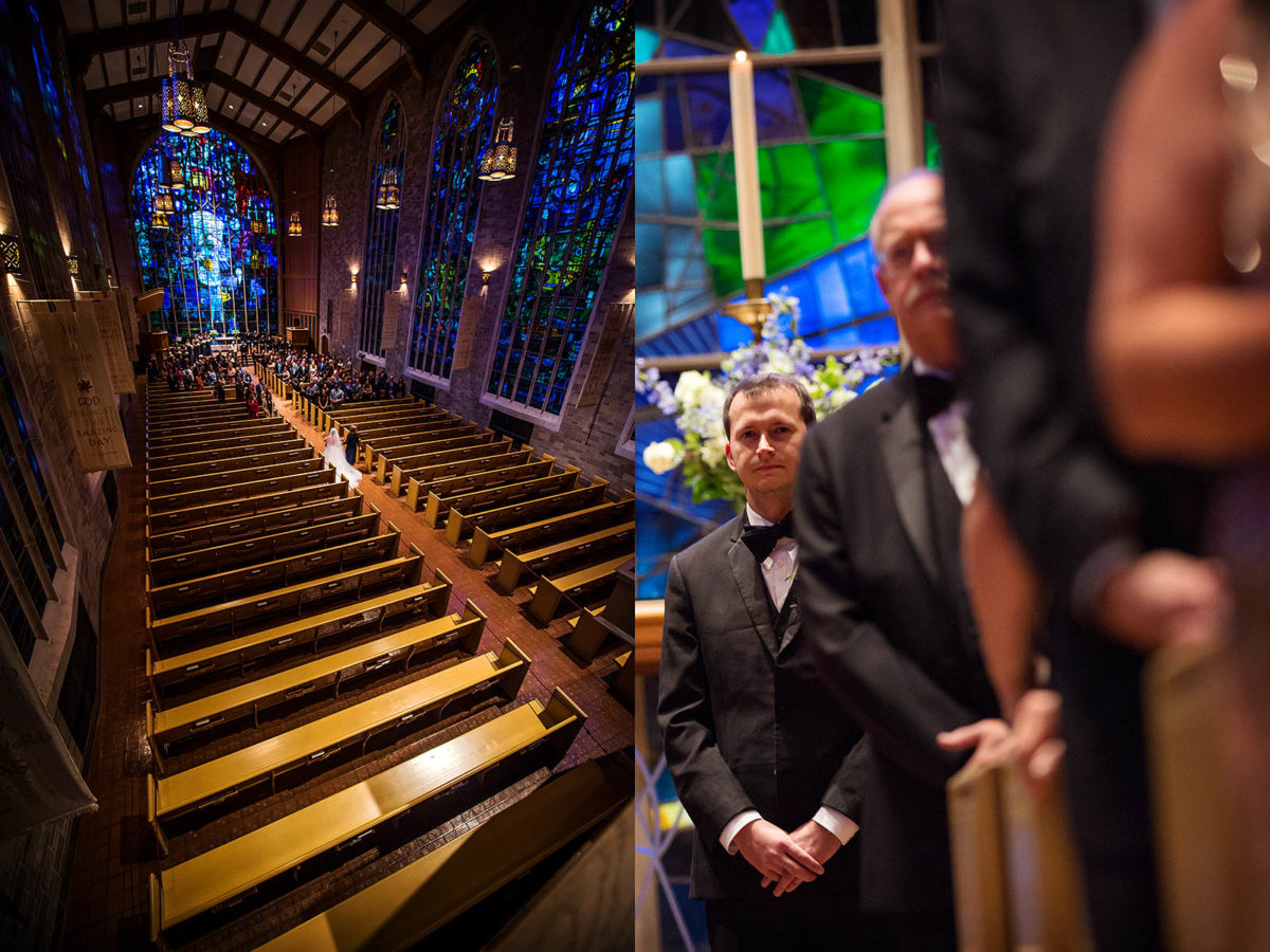 Alice Millar Chapel Aisle Wedding Evanston Illinois