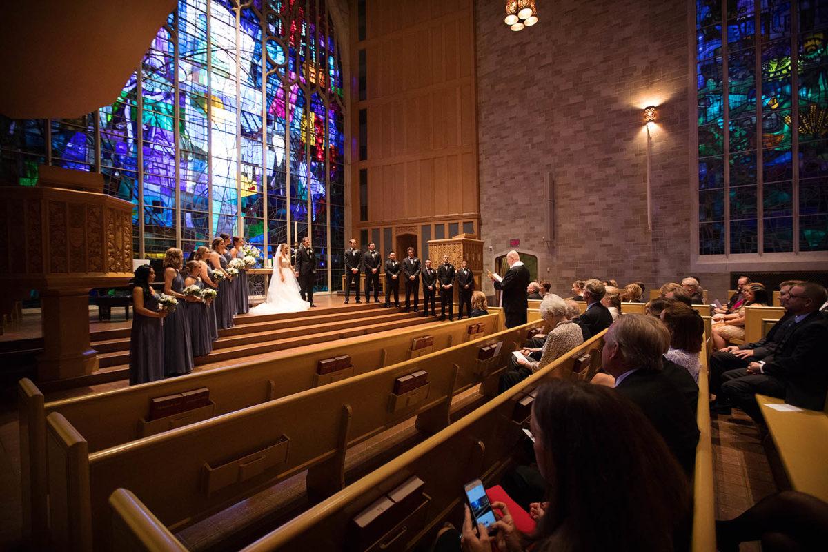 Wedding Ceremony Chapel Alice Millar Evanston