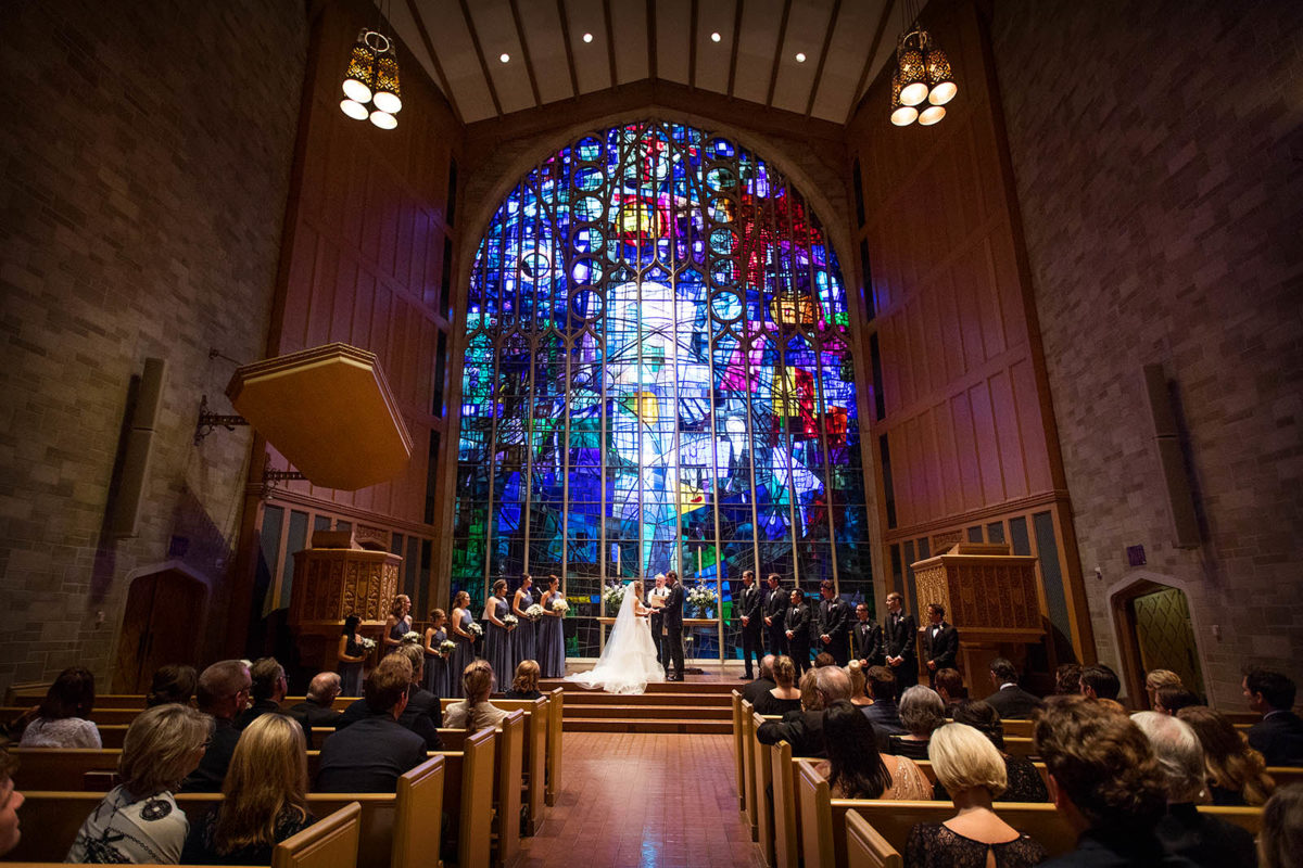 Alice Millar Chapel Wedding Ceremony Evanston IL