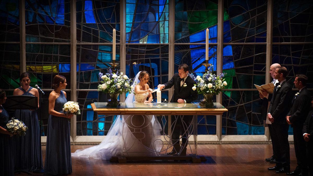 Bride Groom Unity Candle Lighting Alice Millar Chapel
