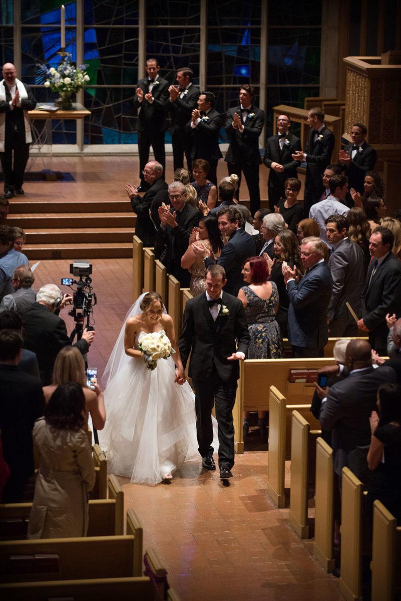 Bride Groom Wedding Recessional Alice Millar Chapel