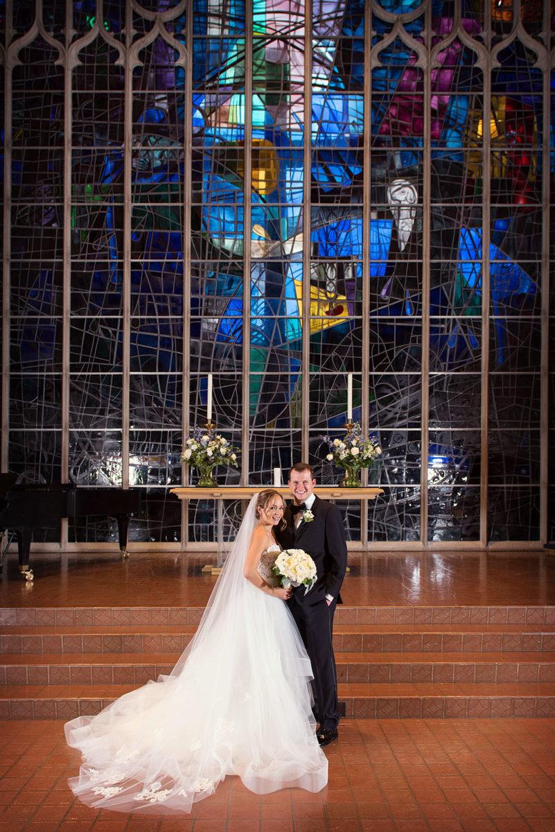 Bride Groom Wedding Portrait Alice Millar Chapel Evanston