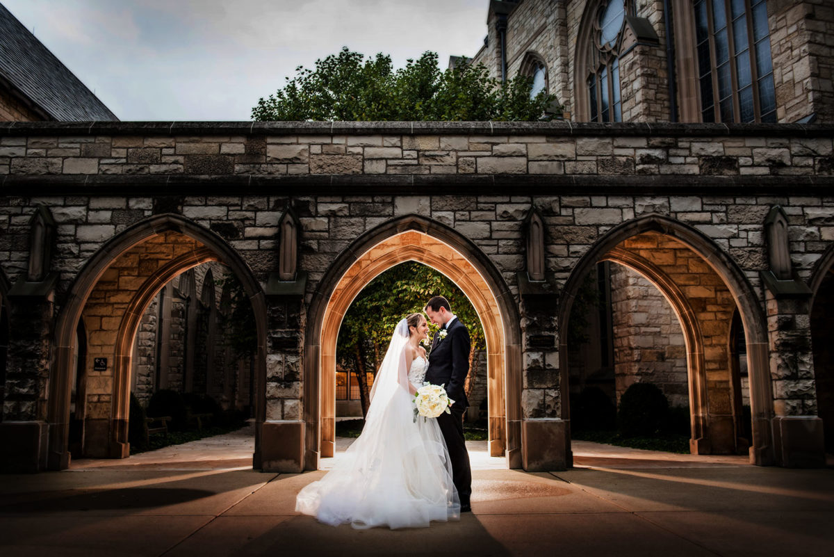Bride Groom Wedding Portrait Alice Millar Chapel Northwestern