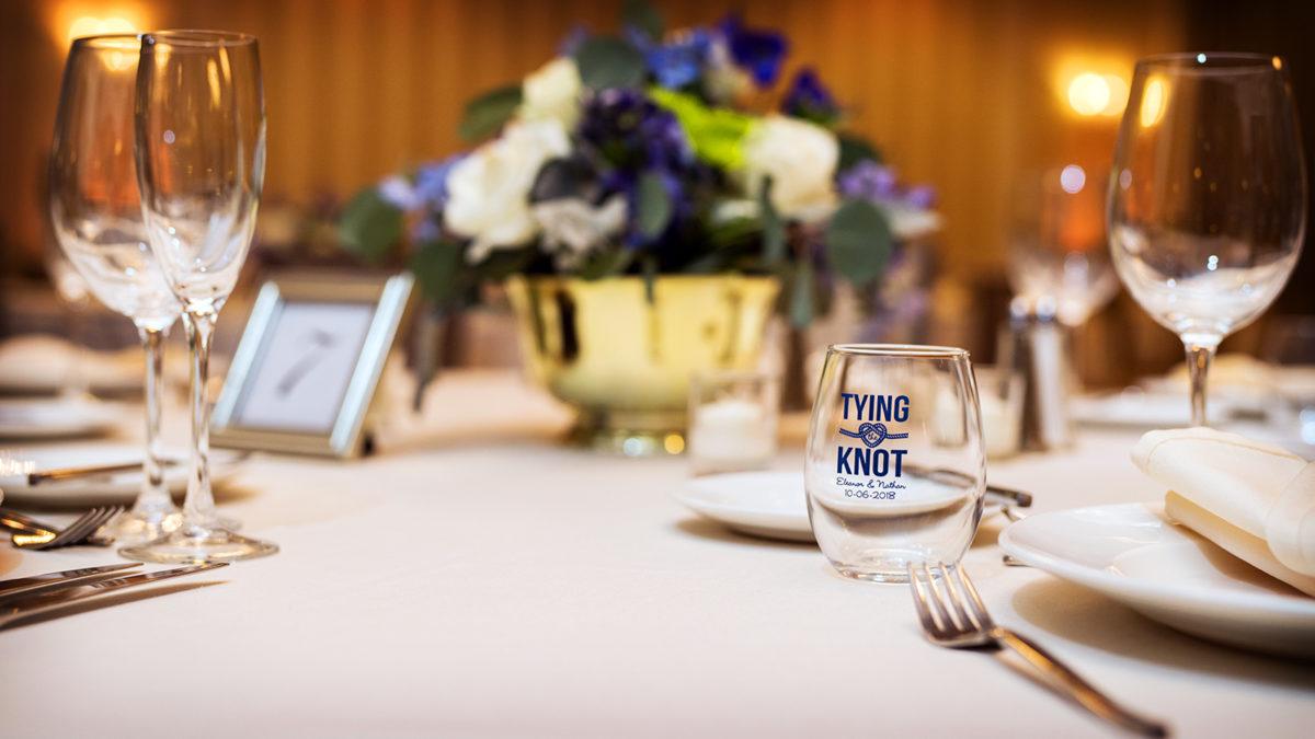Hotel Orrington Wedding Reception Decor