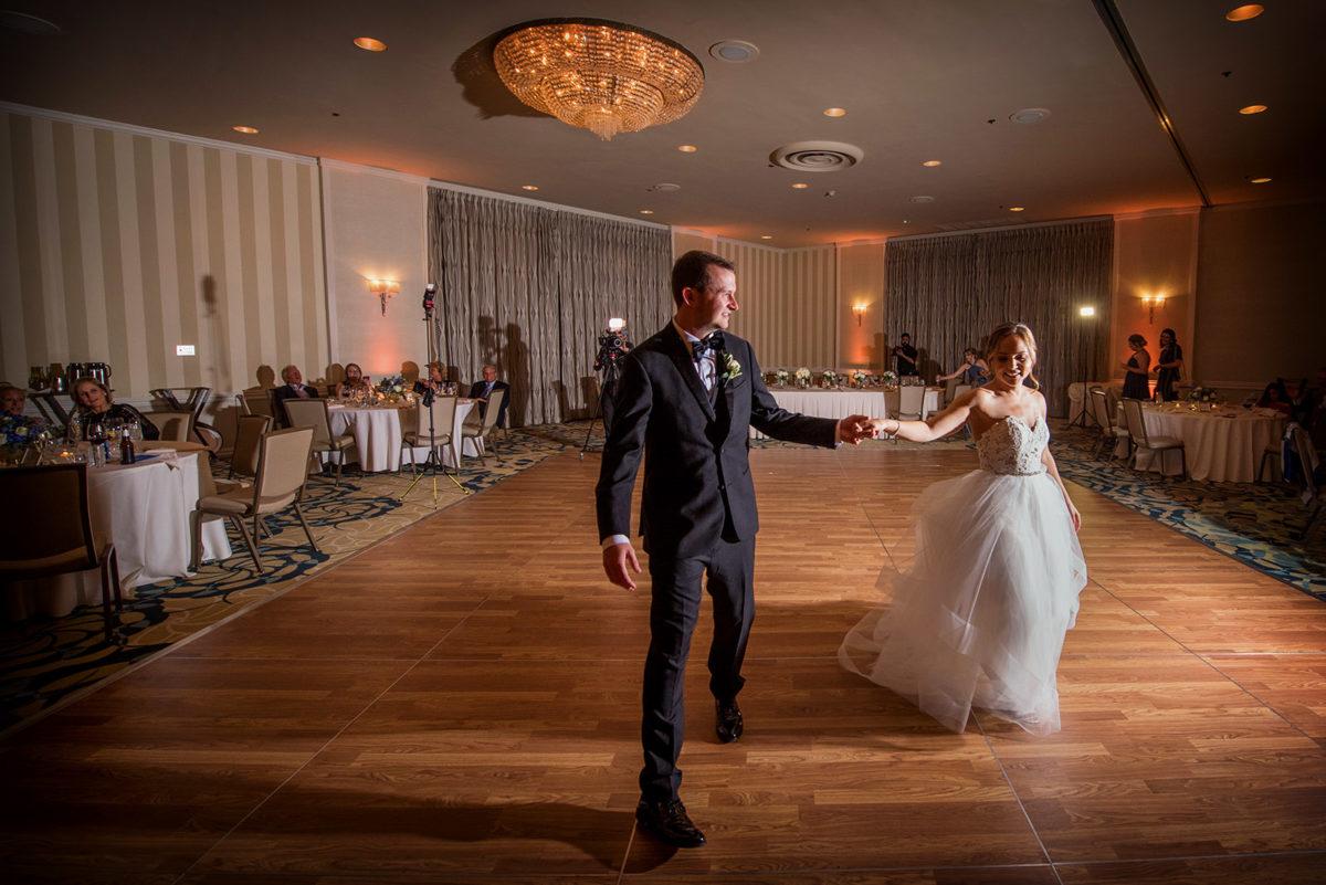 Bride Groom First Dance Hotel Orrington Evanston