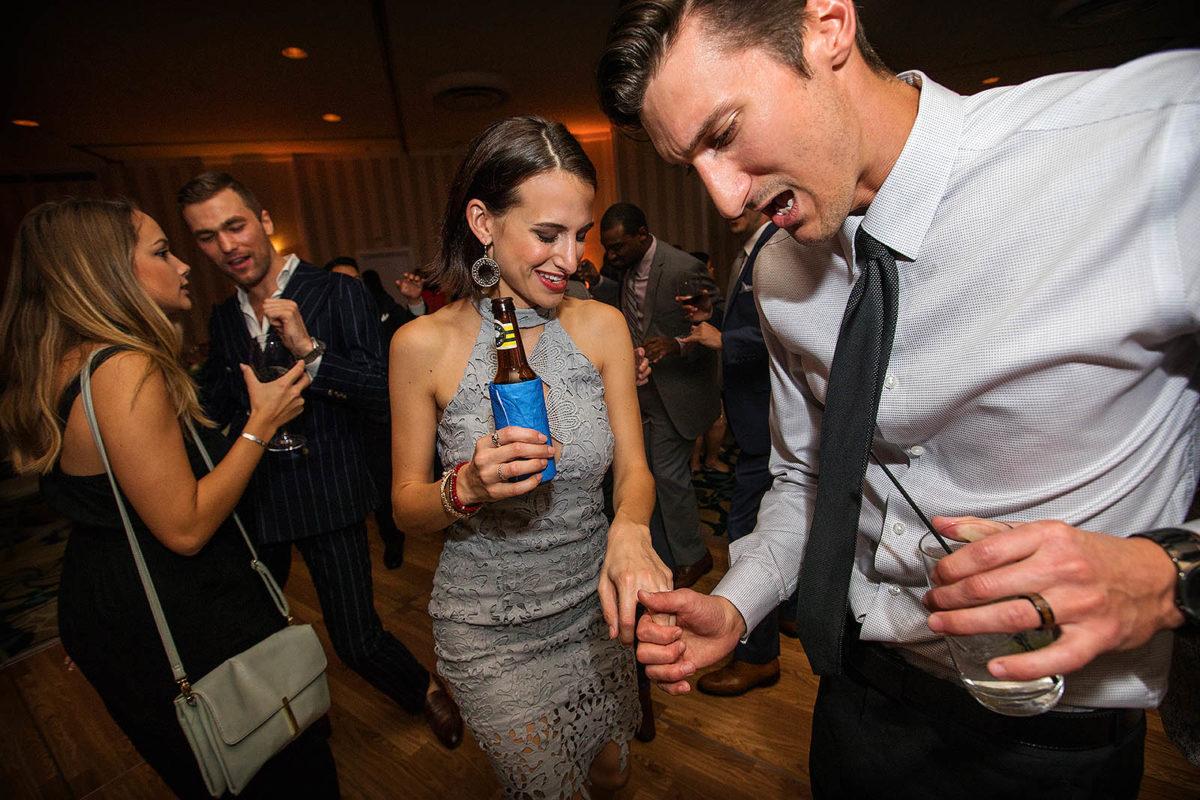 Hotel Orrington Wedding Reception Dance Floor Dancing