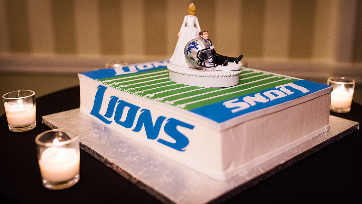 Grooms Cake Detroit Lions Bittersweet Pastry Chicago