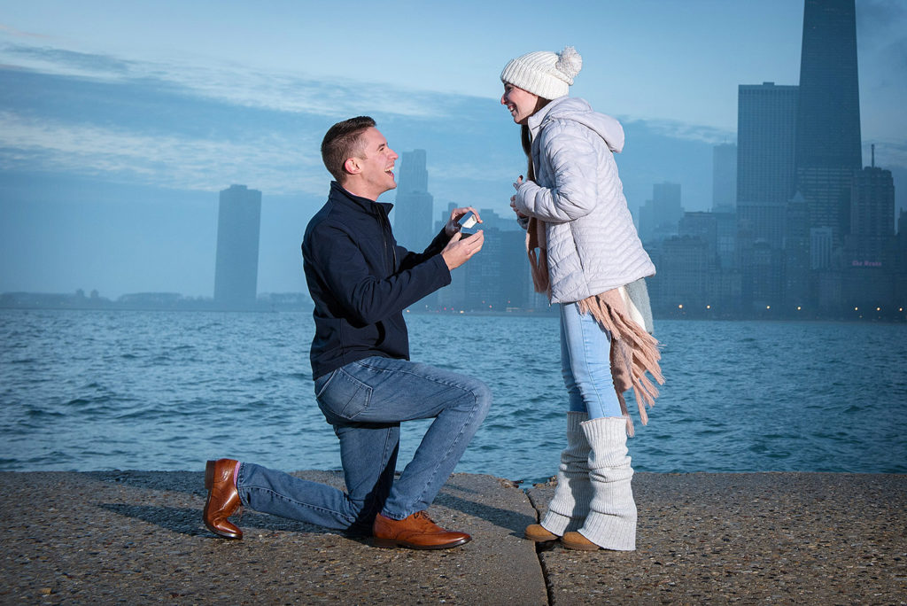 Chicago Wedding Proposal Photographer