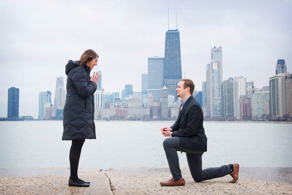 Wedding Proposal Photographer City of Chicago