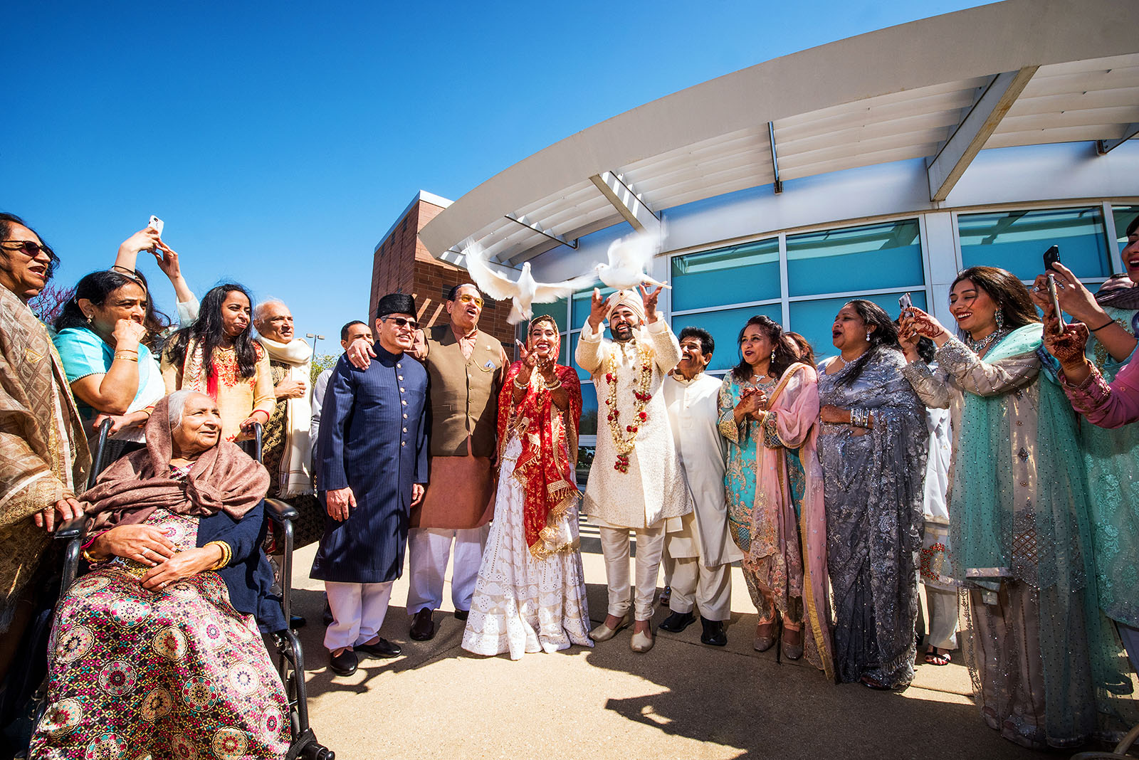 Dove Release Wedding Photo
