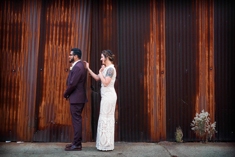 First Look Ovation Chicago Wedding