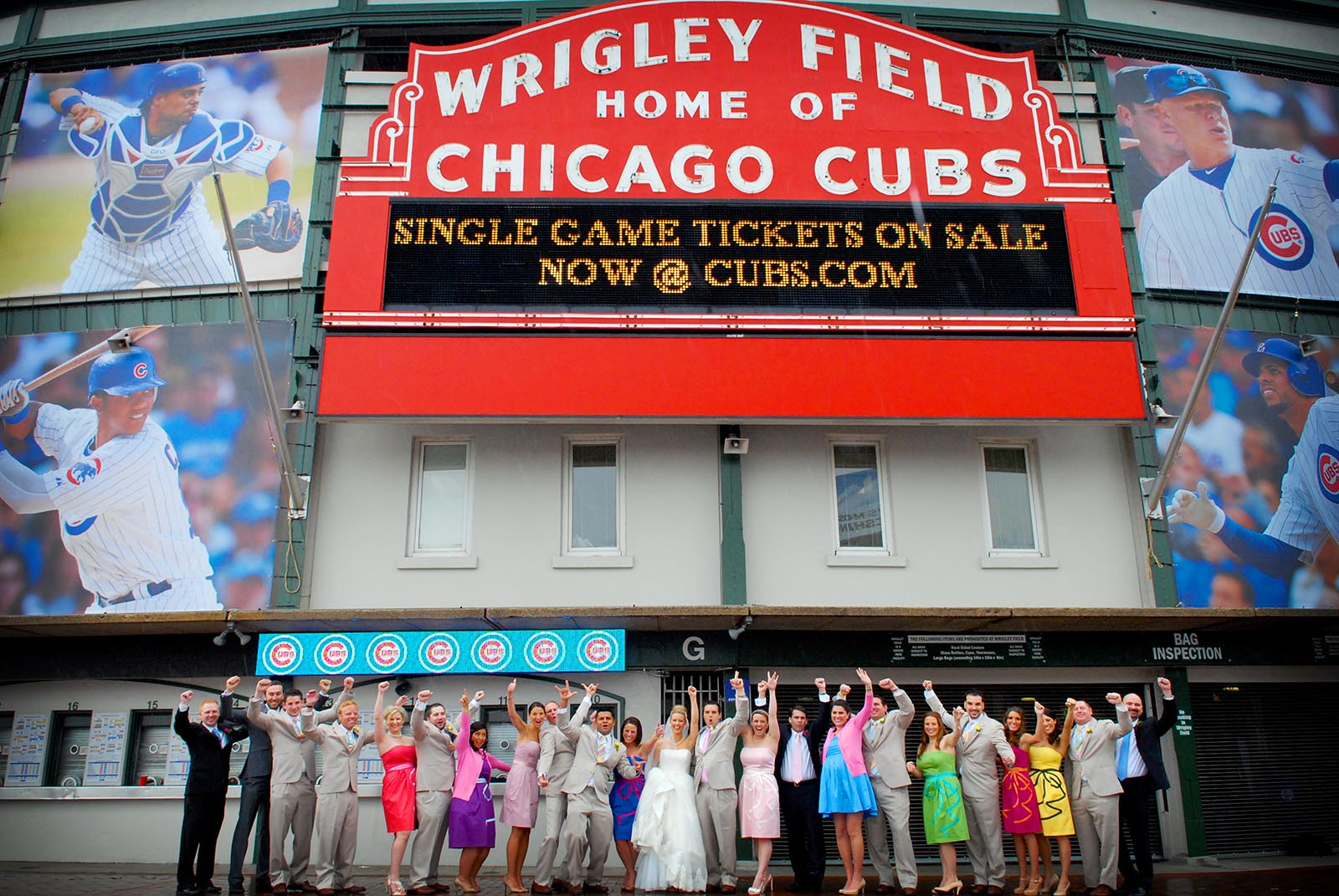 Wrigley Field Wedding Party