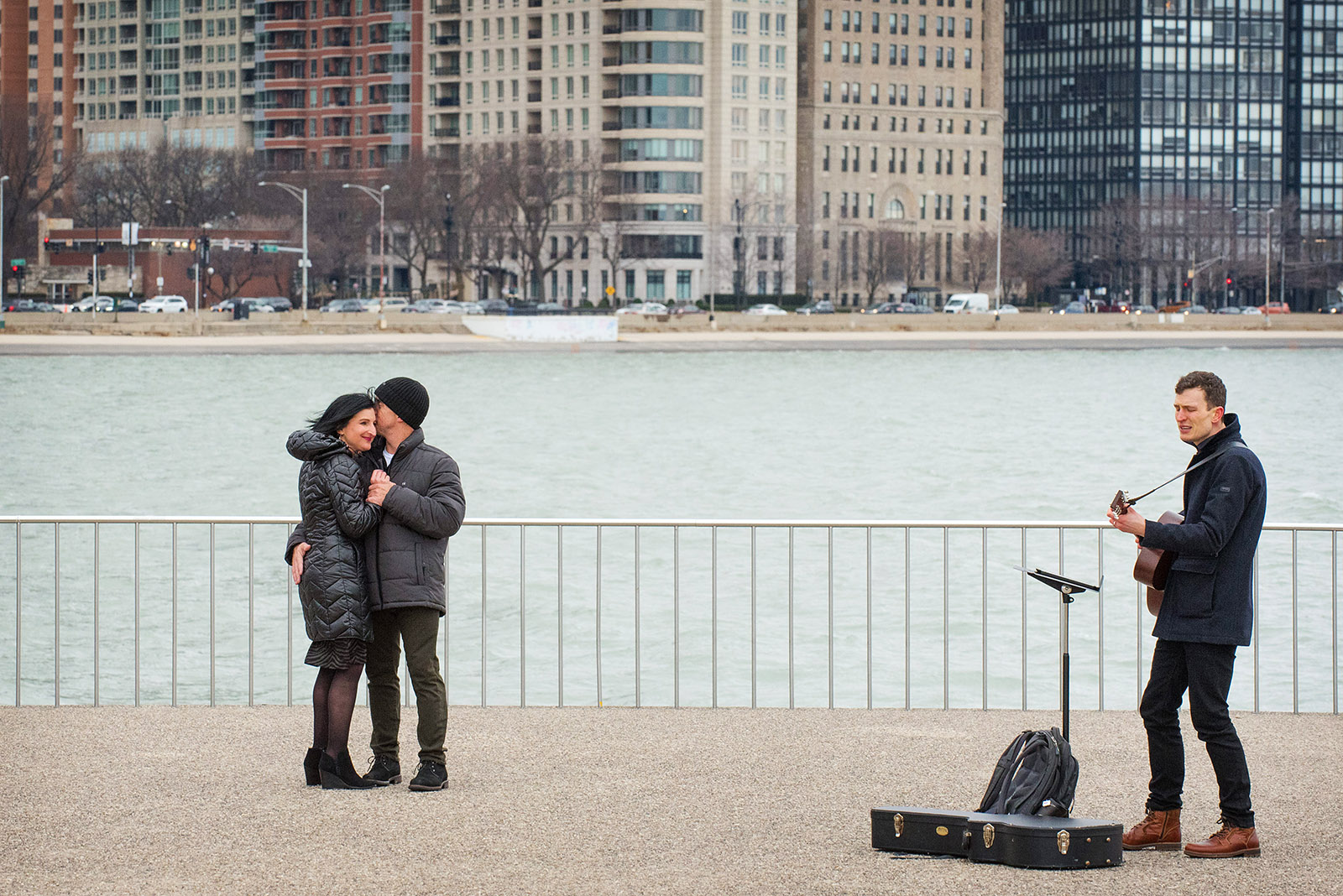 Chicago Proposal Guitarist Eric Taylor performs at Olive Park in Chicago
